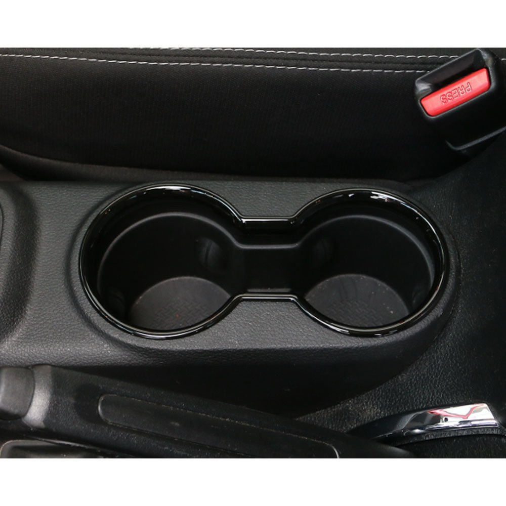 Bentolin New Interior Accessories Black Front /& Rear Water Cup Cover Decoration Trim for Jeep Wrangler 4 Door 2007-2017