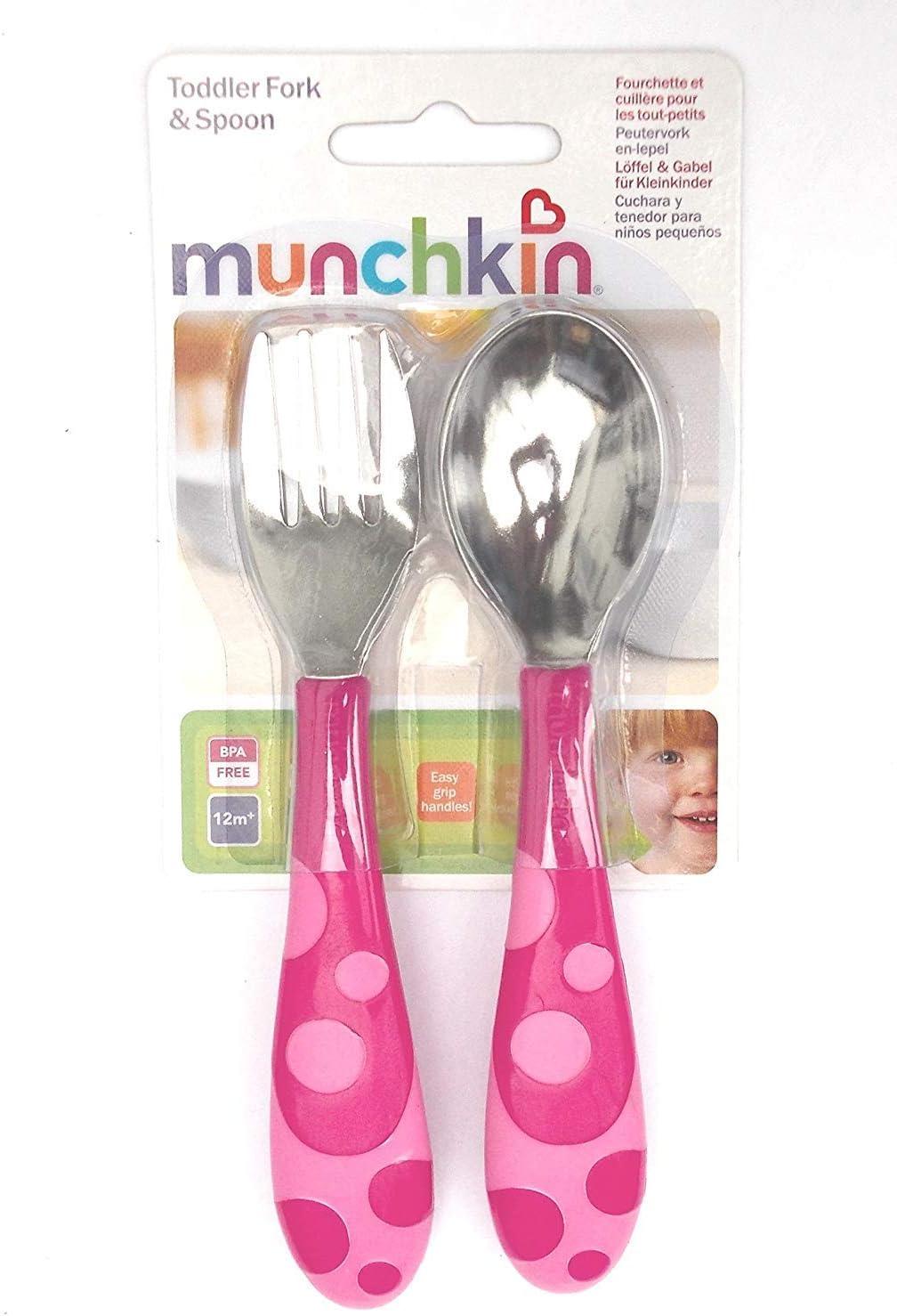 Munchkin Lot de fourchette et cuill/ère pour tout-petit 12 mois sans bisph/énol A