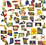 PinMart's 50 State Shape Enamel Lapel Pin USA Collection Value Pack
