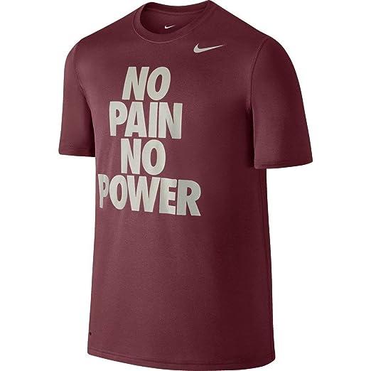 5473fd7e Amazon.com: Nike Men's No Pain No Power Graphic T-Shirt (Team Red ...