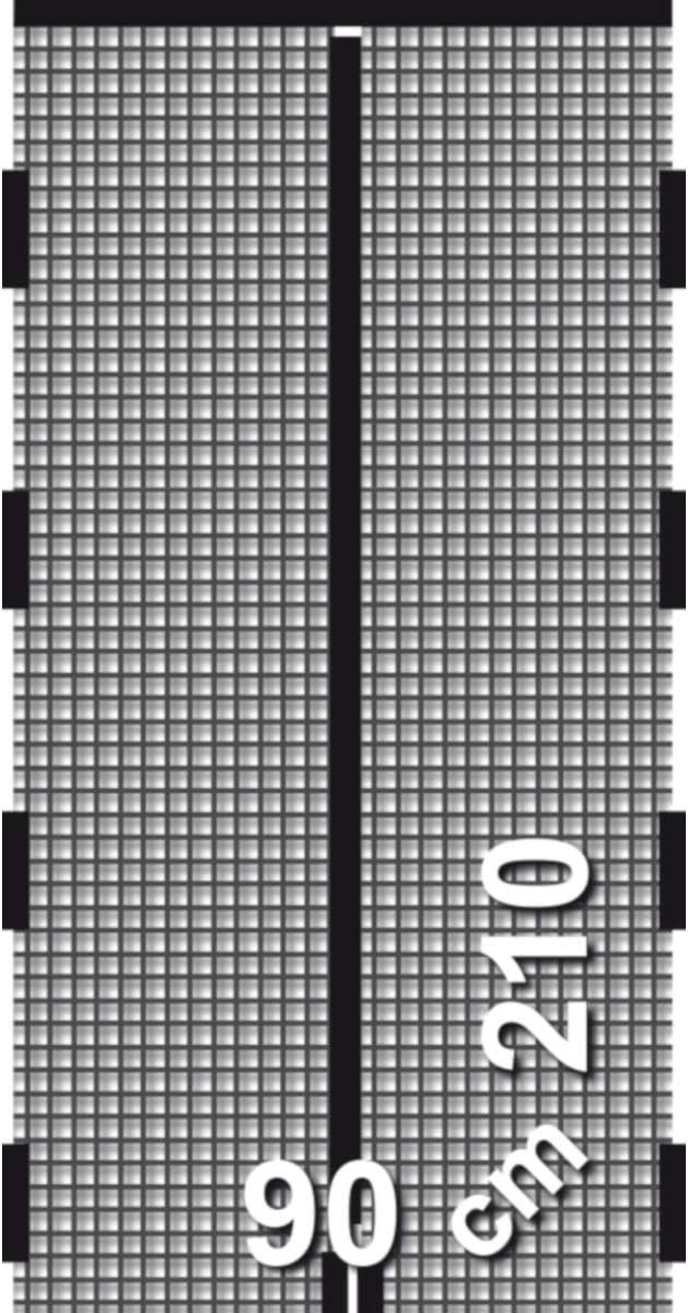 Schellenberg 50640 Insektenschutz-Magnetvorhang f/ür T/üren Anthrazit 90 x 210 cm