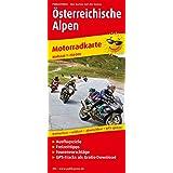 Österreichische Alpen: Motorradkarte mit Ausflugszielen, Einkehr- & Freizeittipps und Tourenvorschlägen, wetterfest, reissfest, abwischbar, GPS-genau. 1:250000