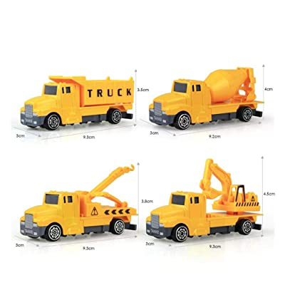 Kaimu 1:60 Construction Inertia Engineering Vehicle Kids Alloy Model Toy Push & Pull Toys: Toys & Games