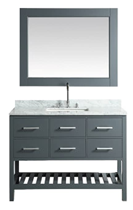 design element london cambridge single 48 inch modern bathroom rh amazon com Modern Bathroom Vanity 48 Inch High Gloss White 48 Inch Bathroom Vanities with Tops