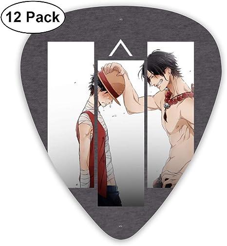 NA Púas De Guitarra Luffy And Ace One Piece T-Shirt Púas De ...