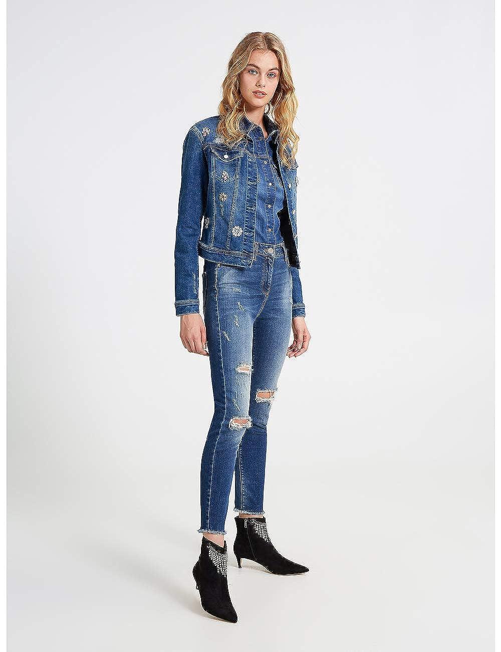 Italian Size Motivi Jeans Skinny a Vita Alta Modello Gisele