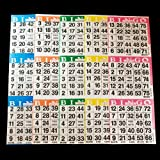 Bingo Paper Cards 3 cards--5 sheets
