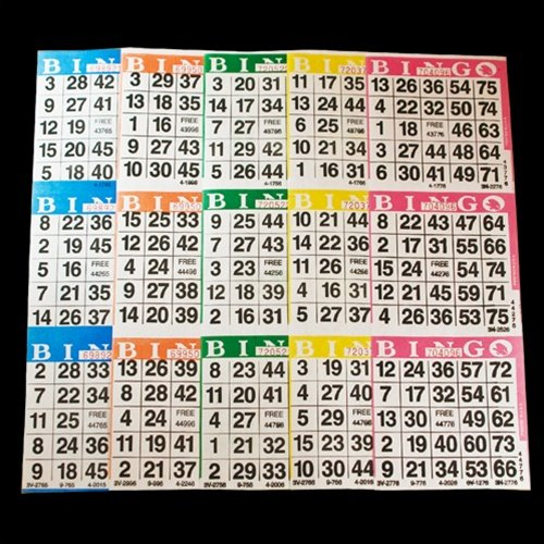 Bingo Paper Game Cards