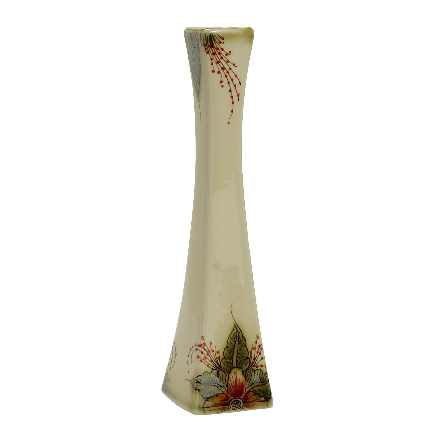 Ten Thousand Villages Handcrafted Ceramic Vase 8'' Tall 'Ancient Stories Flower Vase' by Ten Thousand Villages