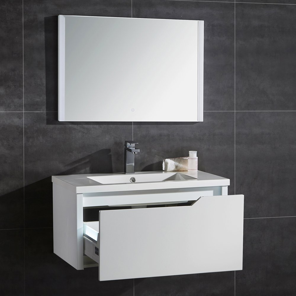 Ove Decors Pavo 32 Floating Single Drawer LED Bathroom Vanity 32