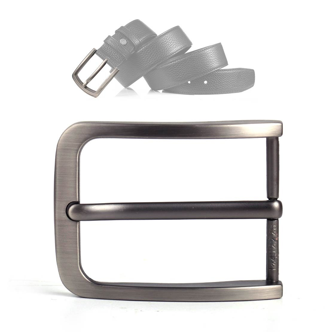 4cm Rectangular Alloy Pin Single Prong Clip Buckle for Men Leather Belt Spare Replacement 6x4.8cm (2.3x1.8inch) eastar