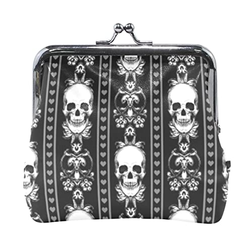 Amazon.com: Barroco Skull Stripe Gótico Negro Monedero ...