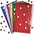 Metallic Foam Self-Adhesive Mosaic Squares - Perfect for Christmas Arts and Crafts (Pack of 1440) by Baker Ross