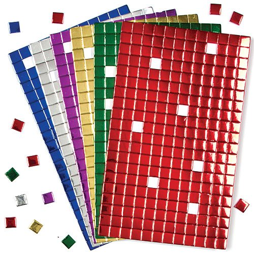 Metallic Foam Self-Adhesive Mosaic Squares - Perfect for Christmas Arts and Crafts (Pack of 1440) (Mosaic Foam)
