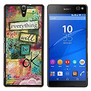 Dragon Case - FOR Sony Xperia C5 Ultra - everything will be ok - Caja protectora de pl??stico duro de la cubierta Dise?¡Ào Slim Fit