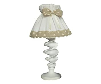 Lampe à Abat-Jour Style Shabby Chic 45h cm Made in Italy: Amazon.fr ...