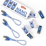 REXQualis Nano V3.0, Nano Board CH340 / ATmega328P with USB Cable, Compatible with Arduino Nano V3.0 (Nano x 3 with…
