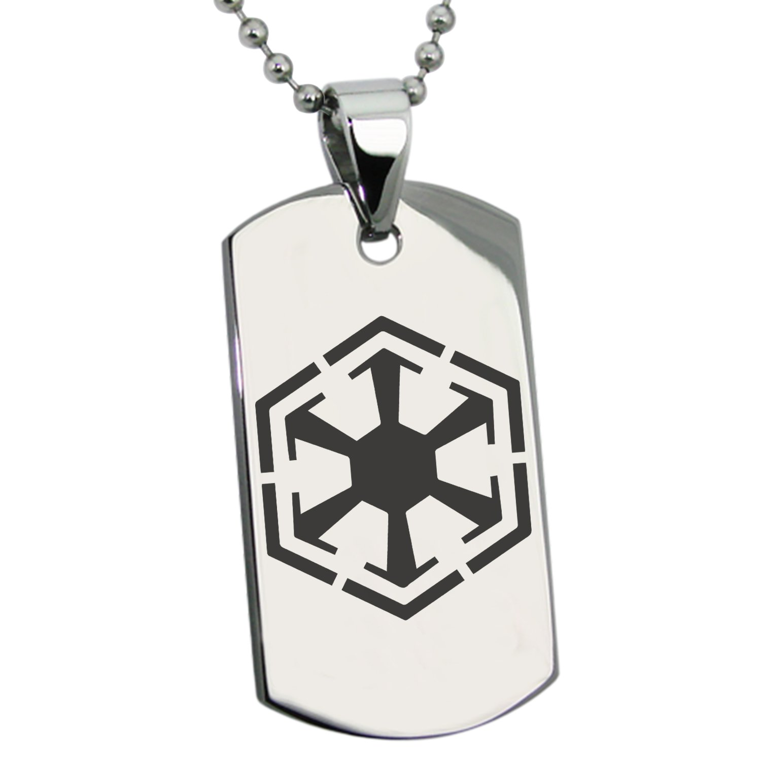 Amazon black stainless steel star wars old republic sith amazon black stainless steel star wars old republic sith empire symbol engraved dog tag pendant necklace jewelry biocorpaavc Image collections