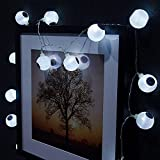 Halloween Solar String Lights, 10 LED Solar Power Eyes Fairy String Light/Starry Light for Outdoor,Home,Patio,Garden,Thanksgiving,Christmas (Cold White) by AntEuro