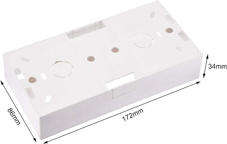 SALAKA Caja de Interruptor de Pared Blanca de 2 Piezas Cassette de Montaje de Toma de Corriente el/éctrica