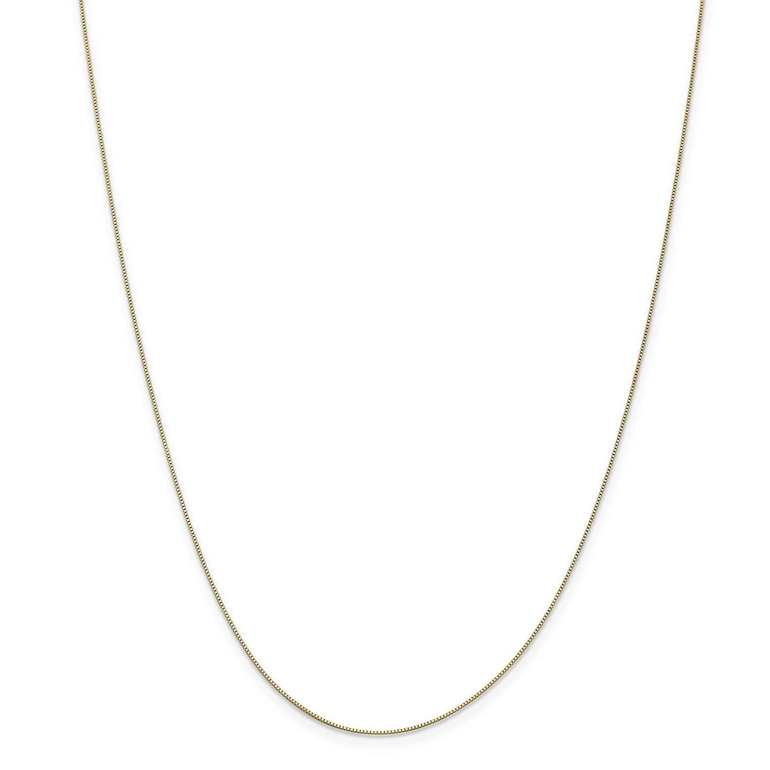 14k Yellow Gold 16in .50mm Baby Box Necklace Chain