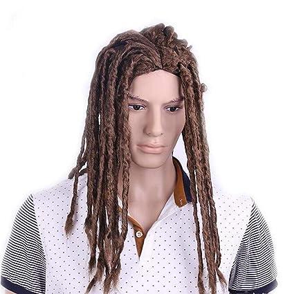 Amazon Com Nsynsy Wig Men Long Hair Braid Dreadlocks Curly