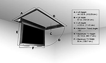 flp-310 motorizado con tapa hacia abajo techo TV Lift para 42