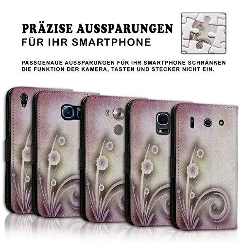 Wallet Book Style Flip Handy Tasche Case Schutz Hülle Schale Motiv Etui für Apple iPhone 4 / 4S - Design Flip MV291