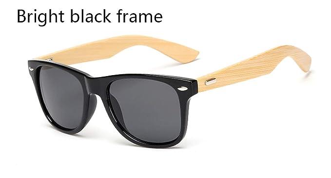 Amazon.com: Gafas de sol cuadradas de madera de bambú para ...
