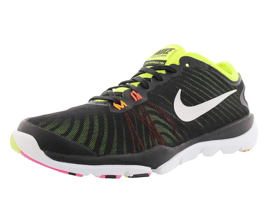 official photos e10b1 b76c1 Amazon.com   Nike Women s Flex Supreme TR 4 OC Cross Trainers 6 M US Black  Volt Pink   Fitness   Cross-Training
