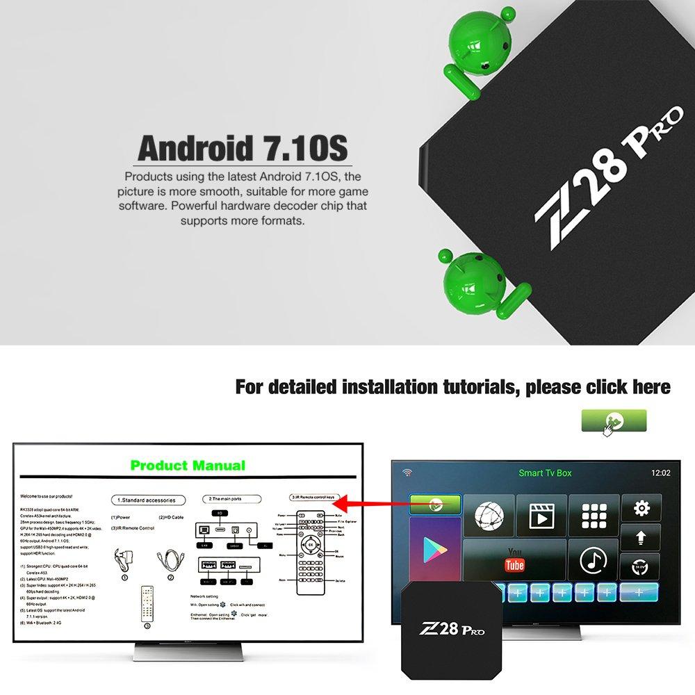 Docooler Smart TV Mini PC HD Media Player Android 7.1 RK3328 Quad Core 64 Bit UHD 4K VP9 H.265 USB3.0 2GB / 8GB WiFi LAN US Plug by Docooler (Image #5)