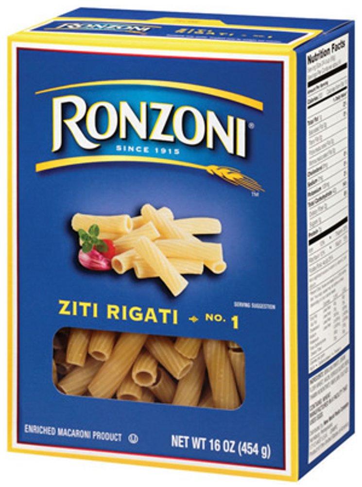 Ronzoni Ziti Rigati, 16-Ounce (Pack of 6) by Ronzoni