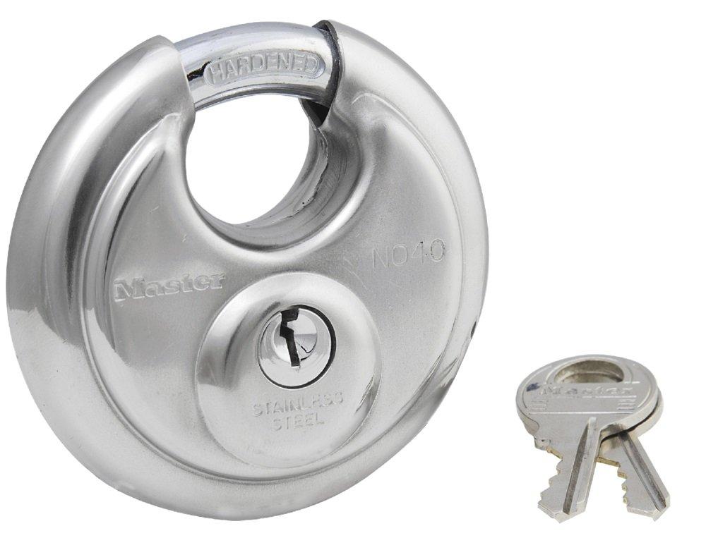 Master Lock Padlock Stainless Steel Discus Lock 2 3 4 in. Wide 40DPF
