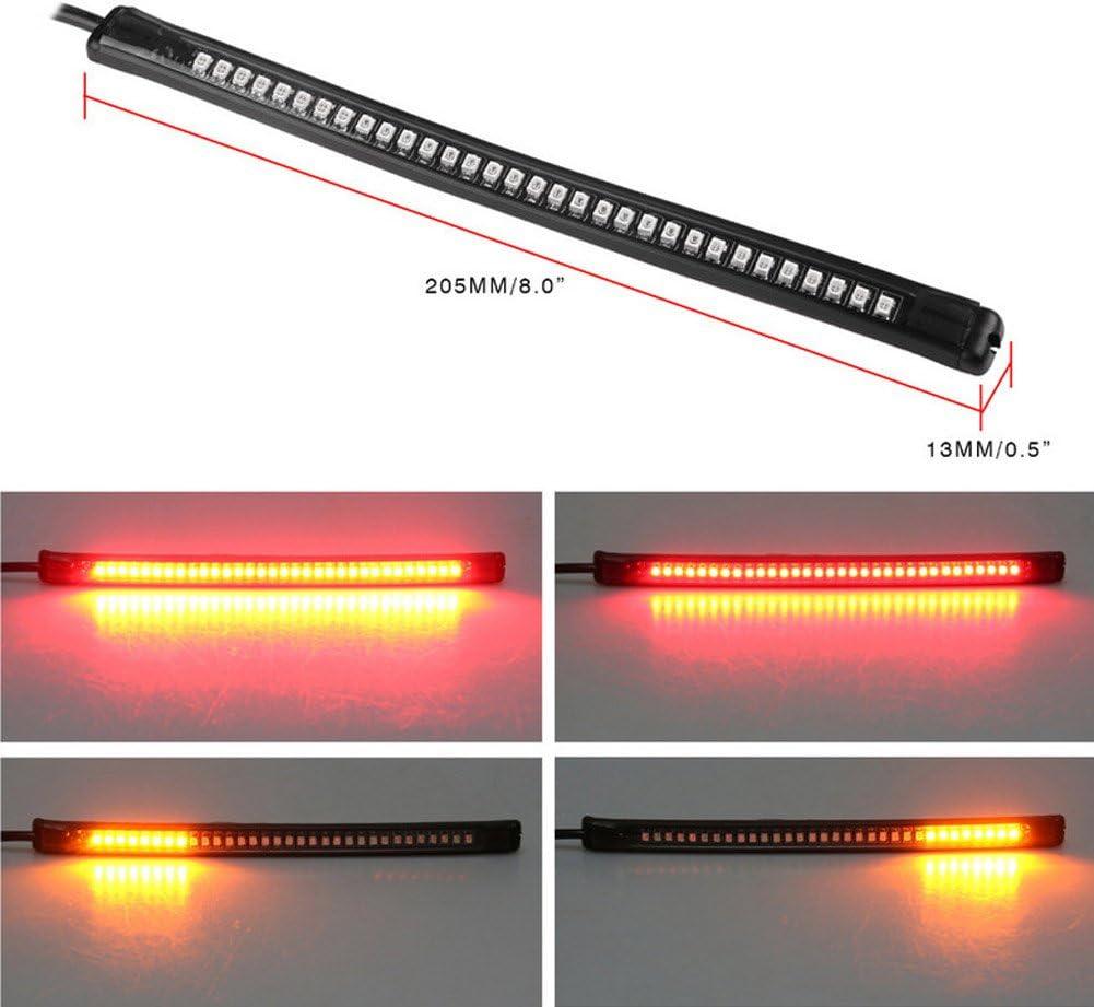 Support universel de 32/LED pour moto High Level Frein Queue lampe Tour Signal Bande flexible Lumi/ère Feux Stop clignotants lumi/ère de plaque dimmatriculation /étanche Barre de Strip Light