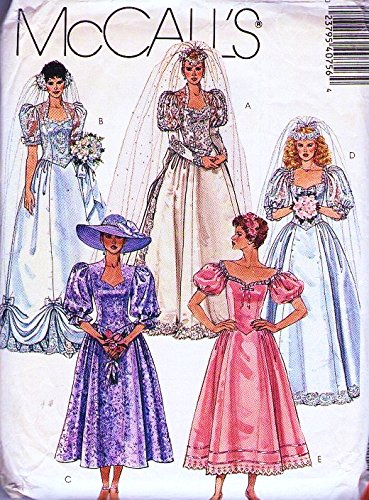 Amazon Mccalls 4075 Bridal Gowns And Bridesmaid Dresses Sewing