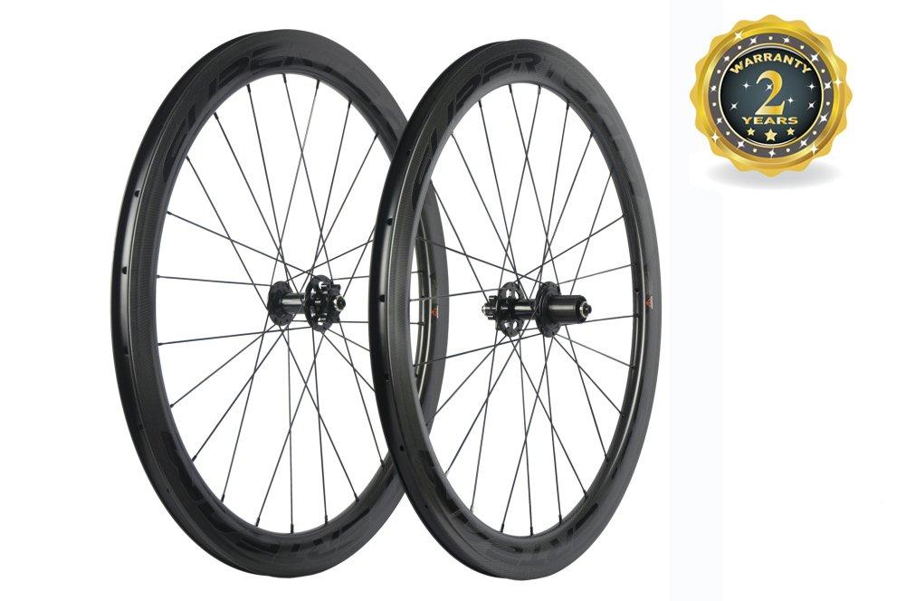 スーパーチーム カーボン ディスクブレーキ 自転車ホイール 50mm クリンチャーロードホイール 700C disc B0773GGNXF