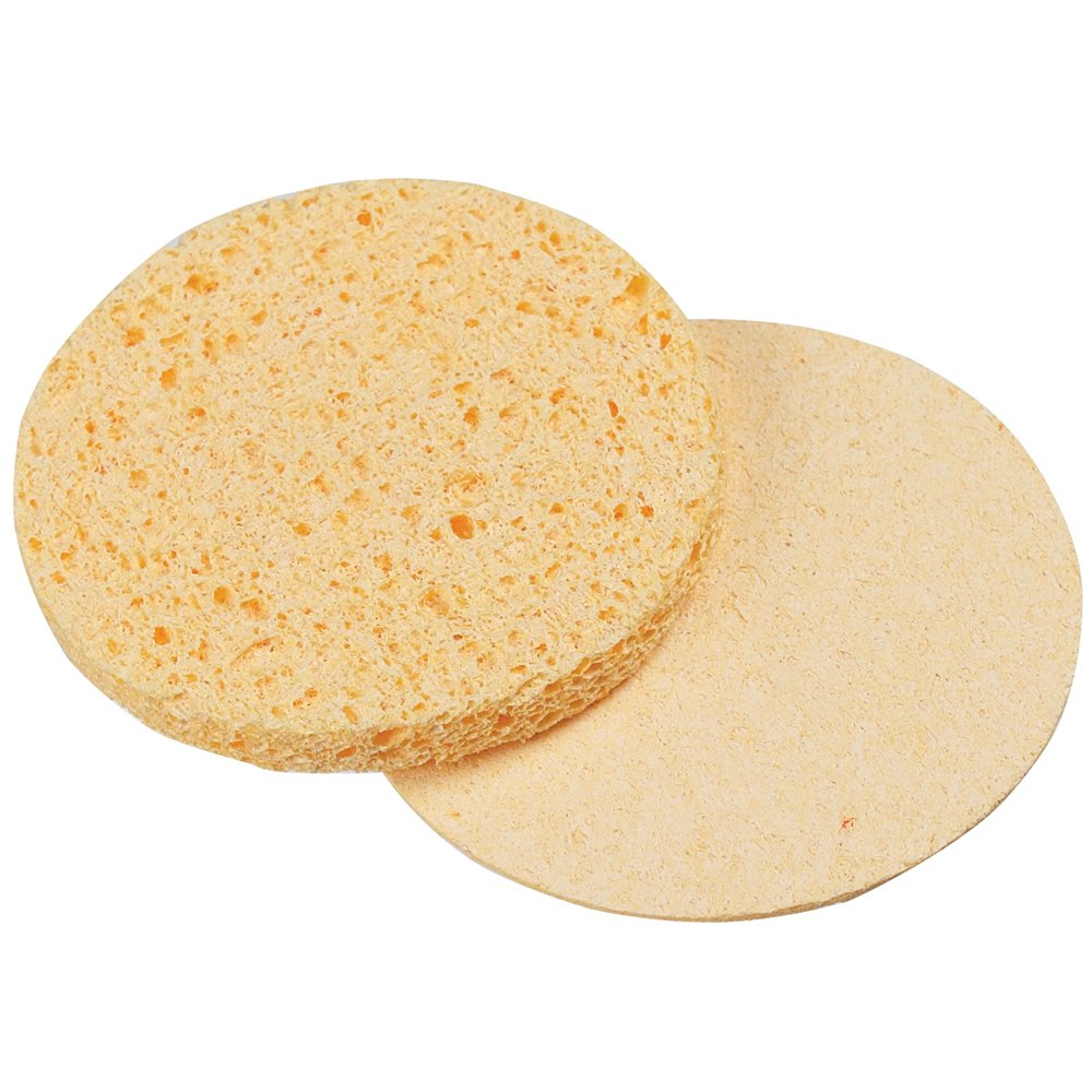 For Pro Compressed Sponge, Yellow, Round, 2.75 Inch, 12 Count TNG Worldwide