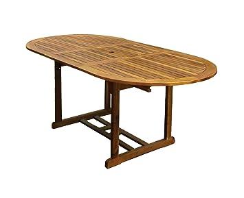 Bentley Garden - Grande table de jardin ovale en bois - extensible ...