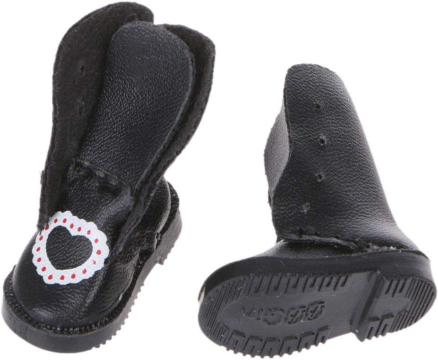 ATATMOUNT Fait Main Exquis Coeur PU Cuir poup/ée Bottes pour Blyth poup/ée Chaussures 1//6 poup/ée