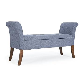 Amazon Com Belleze Modern Upholstered Storage Bench Top Seat