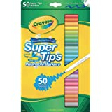 Crayola Washable SuperTips Markers, 50 Vibrant Colours, Perfect for the Classroom, School Booklists or drawing at home…