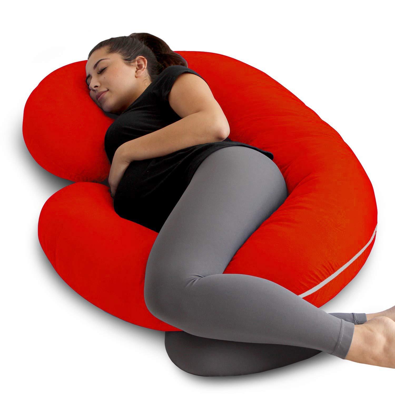 C Shape Full Body Maternity Pillow Nursing Sleeping Support for Pregnant Women L