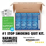 Harmless Cigarette / 4 Week Quit Kit / Stop Smoking Aid / Includes FREE Quit Smoking Support (4 Pack Quit Kit, Cool Menthol)