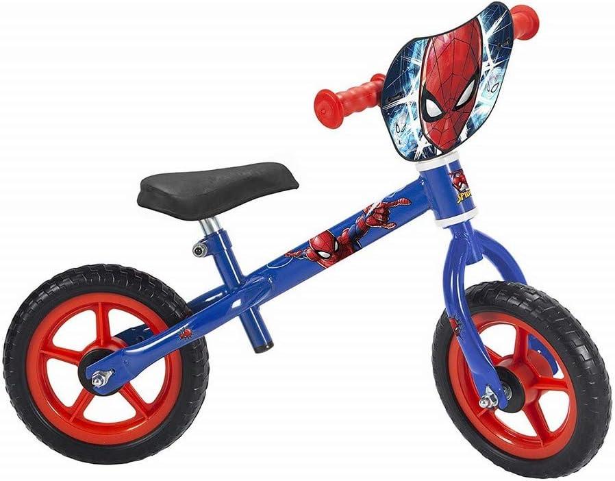 GUIZMAX Draisienne Spiderman 10 Pouces Disney sans pedale Bouclier