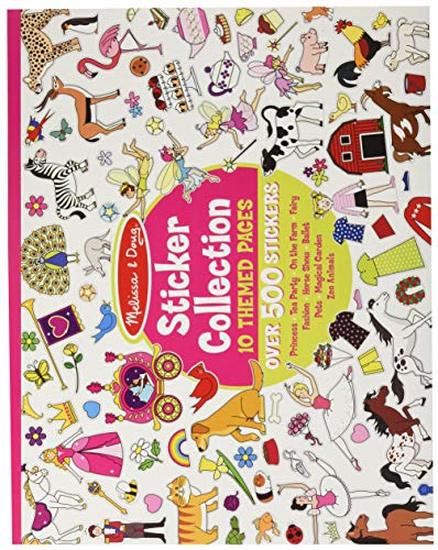 Melissa & Doug Sticker Collection Book; Arts & Crafts; Princesses, Tea Party, Animals, & More (500+ Stickers)