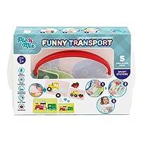 Picnmix Trasporto Divertente Giocattoli Educativi Puzzle Veicoli Adesivi per bambini dai 3 ai 7 anni