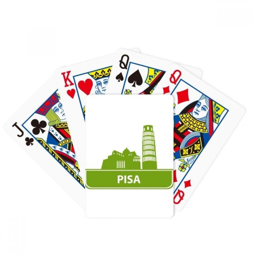 Pisa Italy Green Landmark Pattern Poker Playing Cards Tabletop Game Gift
