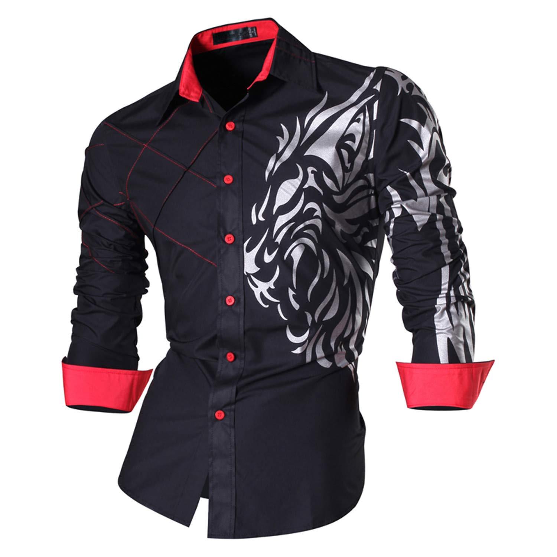 Leo Lamb Spring Autumn Features Shirts Men Casual Jeans Shirt Slim Fit Male Shirts Z030