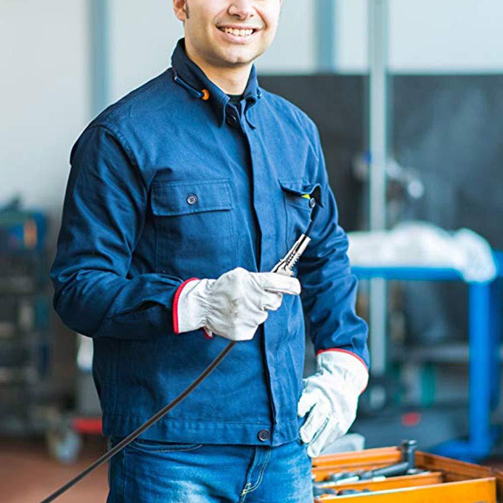 ViXiLin Schmier/öl-Hochdruck-Spritzpistole Lockzange Hochdruckfett Armatur Doppelgriff Fettpresse