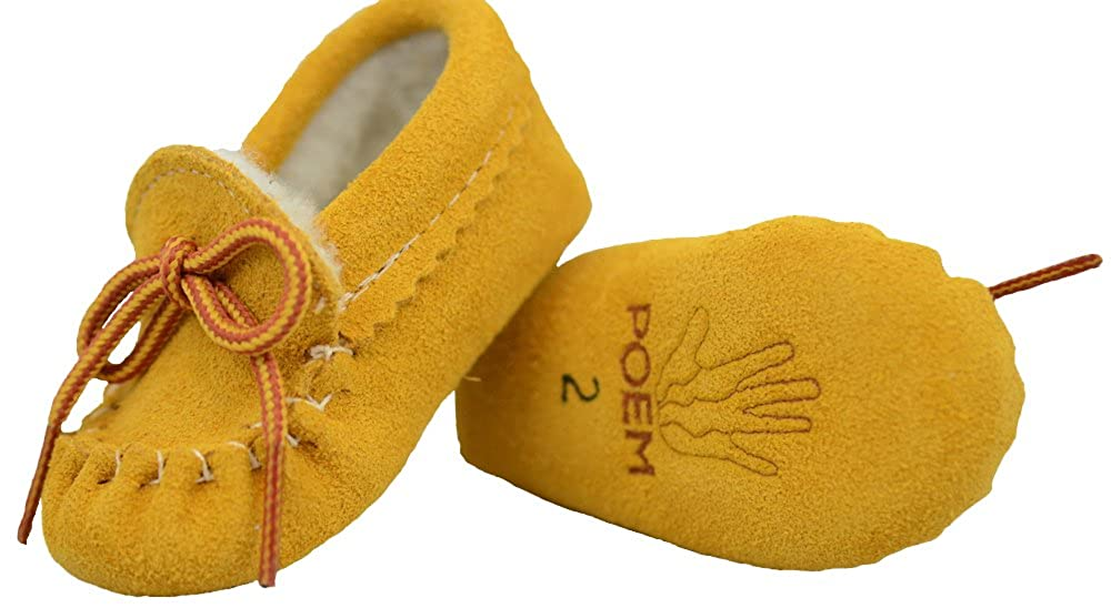 Poem Authentic Native American-Made Chukka Boot Shearling Lined Moccasins for Babies Style #158